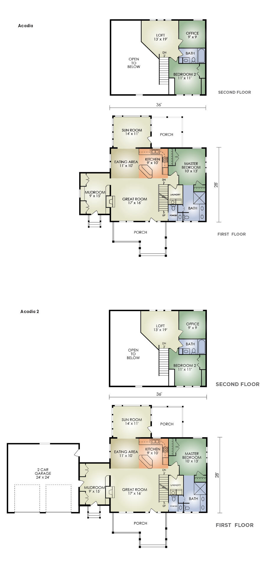 acadia log home floor plan from hochstetler log homes