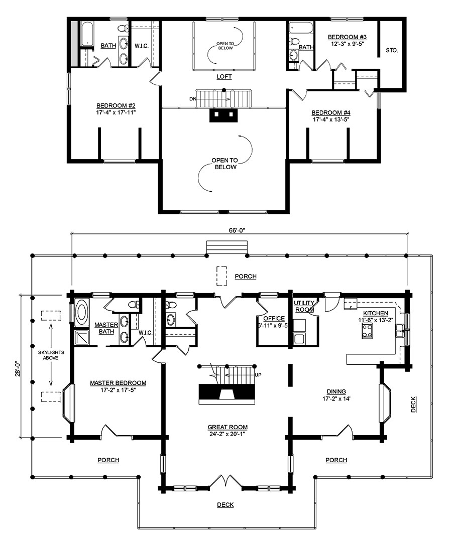 log home and log cabin floor plan details from hochstetler log homes