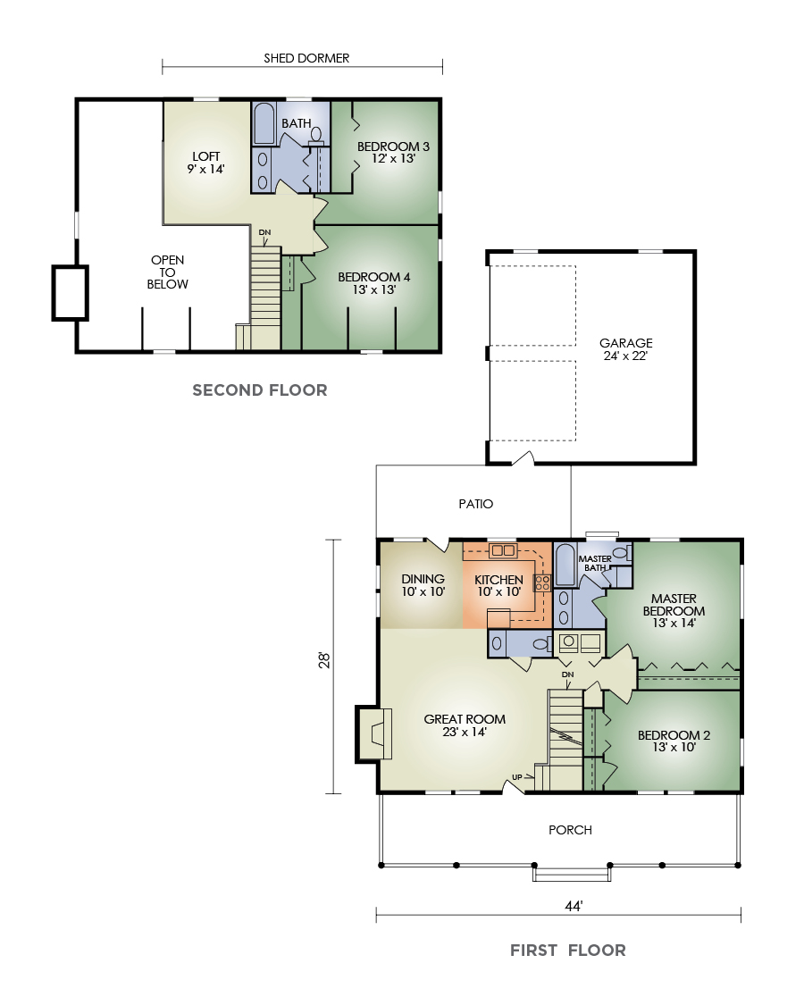 log home and log cabin floor plan details from hochstetler log homes