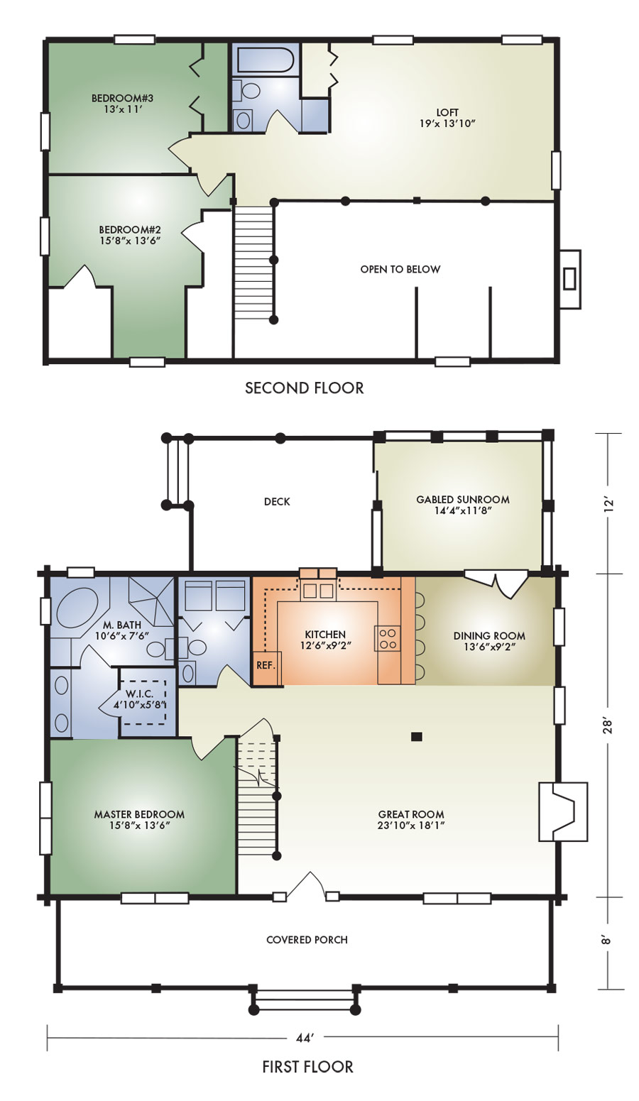 2 Bedroom Addition Floor Plans