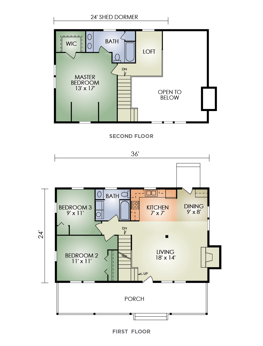 pleasant view floorplan