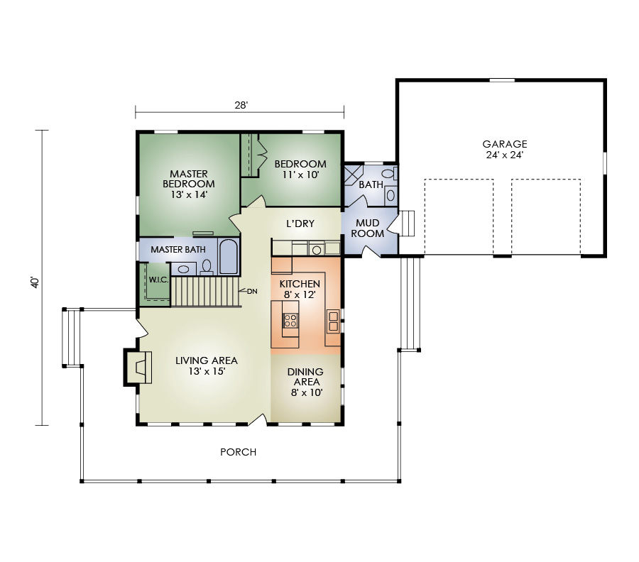 yellow stone floorplan