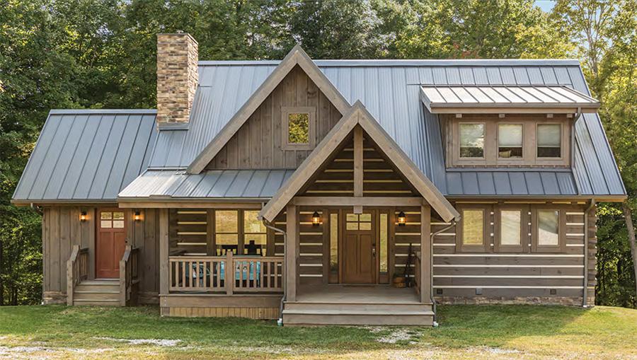acadia log home from hochstetler log homes