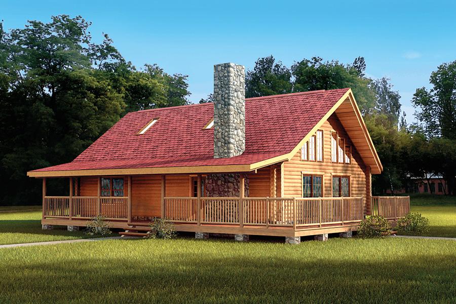 alpine log home from Hochstetler milling