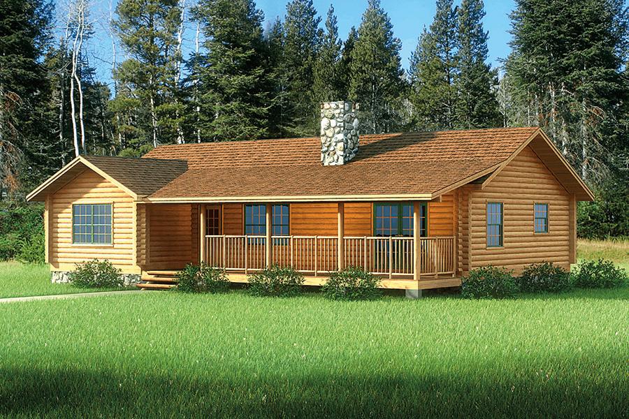 Blue Ridge Log Home Floor Plan