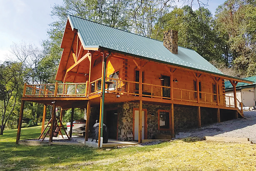chalet log home from Hochstetler milling