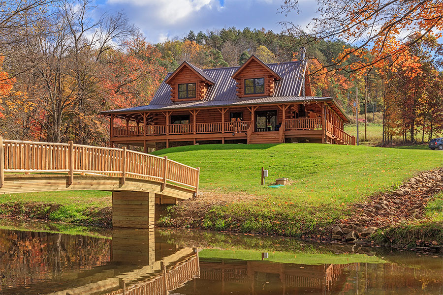 2 bedroom log home floor plans for Two bedroom log homes