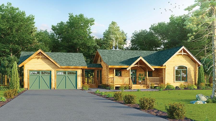 Cuyahoga log home from Hochstetler Milling