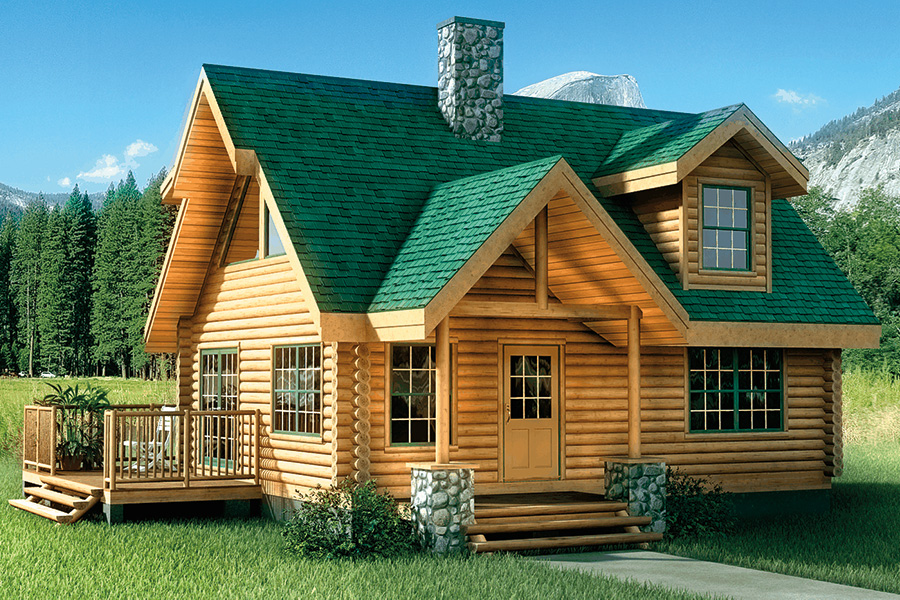 Fontana Log Home From Hochstetler Milling