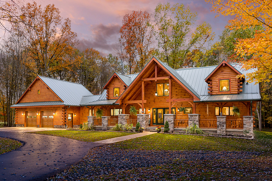 Grand Teton log home from Hochstetler log homes