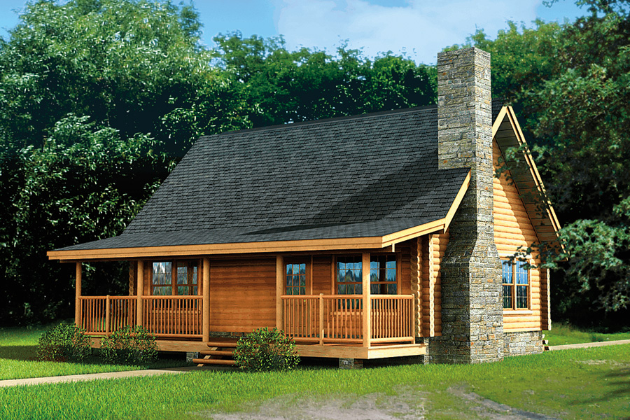 greenbriar log home from Hochstetler milling