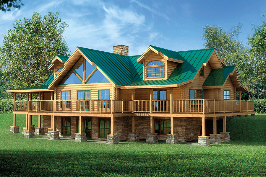 heritage log home from Hochstetler milling
