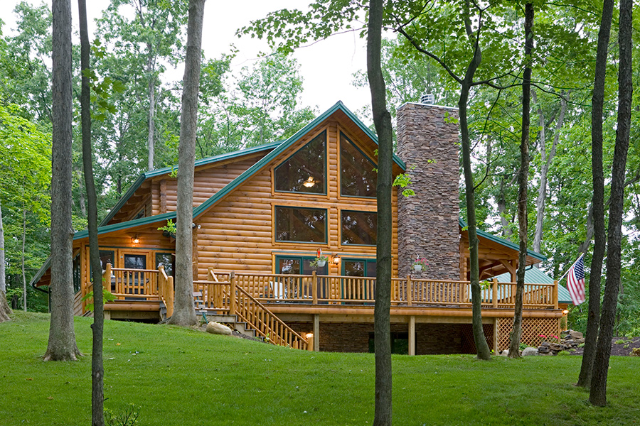 hickory hills log home from Hochstetler Milling