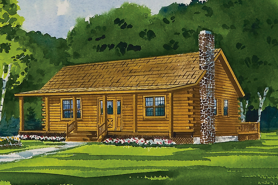honey creek log home from Hochstetler Milling