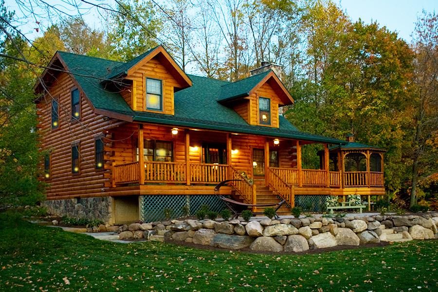 Log home and log cabin floorplans from hochstetler log homes for Hudson log