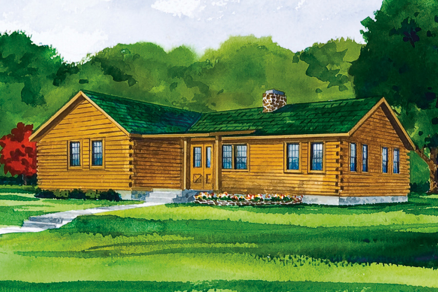 johnsville ii log home from Hochstetler Milling