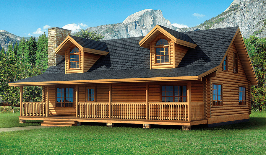 laurelwood log home from Hochstetler milling