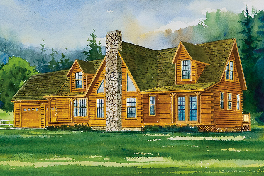 lexington log home from Hochstetler Milling