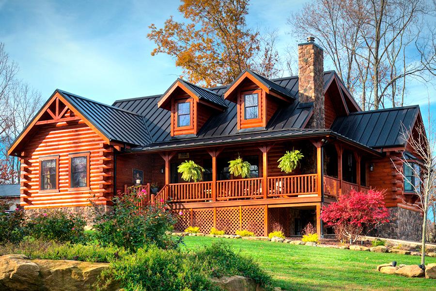 loudonville log home from Hochstetler Milling