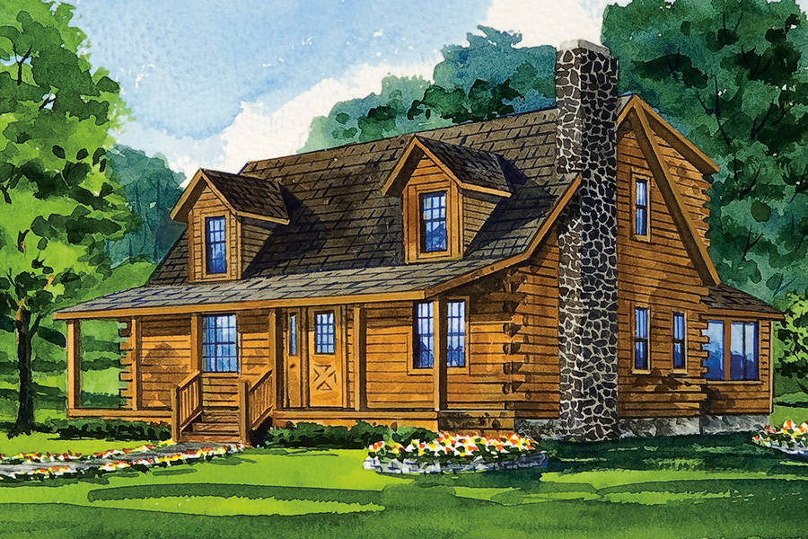 mckay44 log home from Hochstetler milling