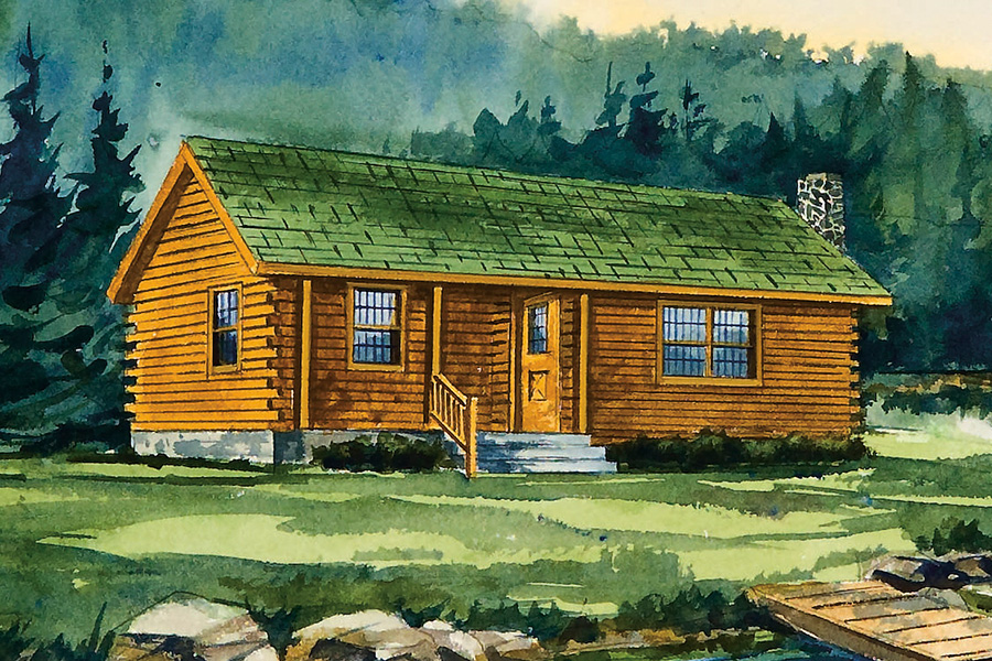 Log home and log cabin floorplans from hochstetler log homes for Log cabin retreat