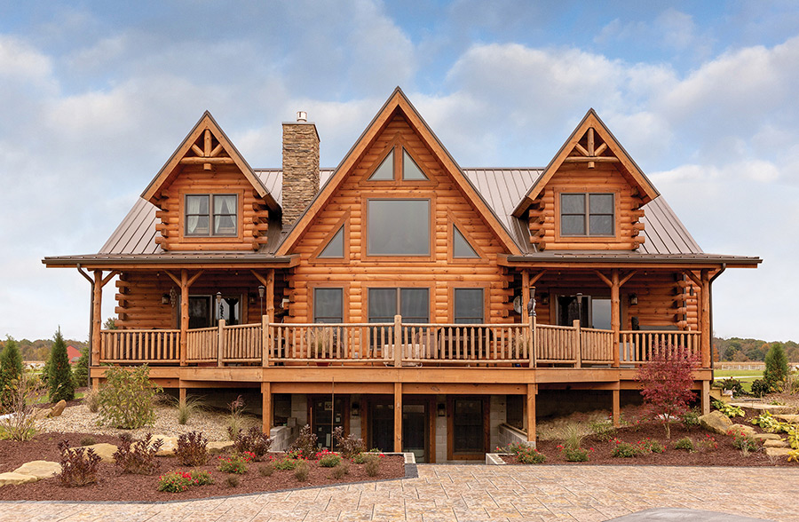 sweetwater log home from Hochstetler Milling