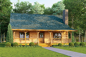 brookside log home from Hochstetler Milling