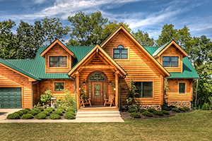 clear fork log home from Hochstetler Milling