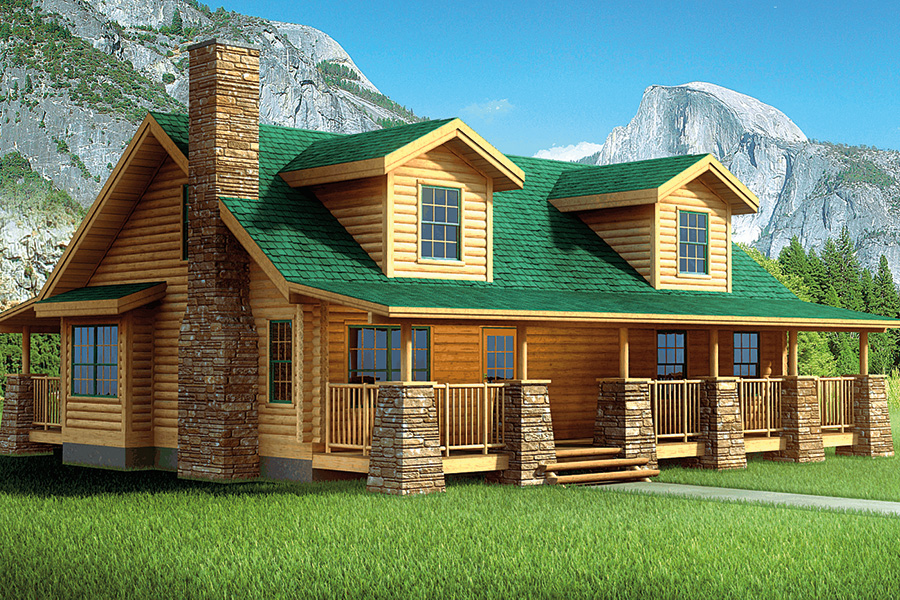 englewood log home from Hochstetler milling