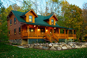hudson log home from Hochstetler Milling