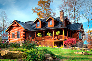 loudonville log home from Hochstetler Milling