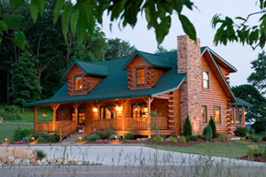 mckay log home from Hochstetler Milling