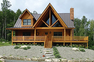 mountain laurel log home by Hochstetler milling
