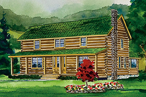 newbury log home from Hochstetler Milling