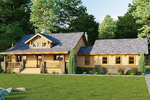 Shenandoah log home from Hochstetler Milling