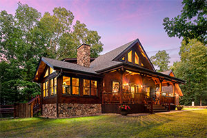 Wilson log home from Hochstetler Log Homes