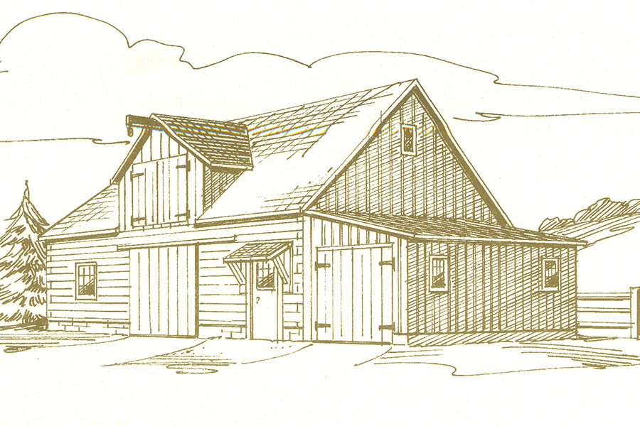 vermont log home from Hochstetler Milling