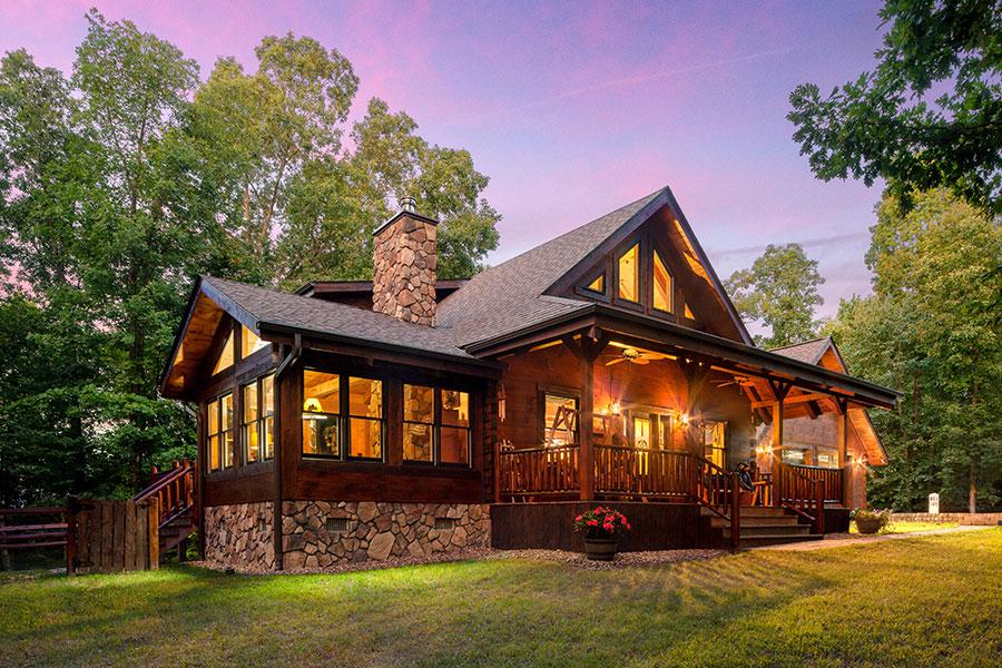 Wilson log home from Hochstetler Log Homes