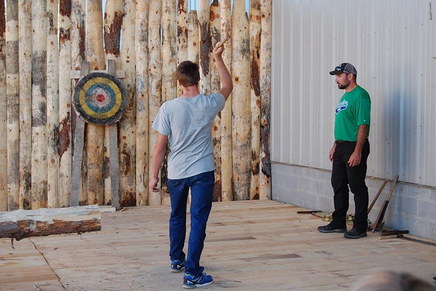Log Cabin Days Axe Throwing