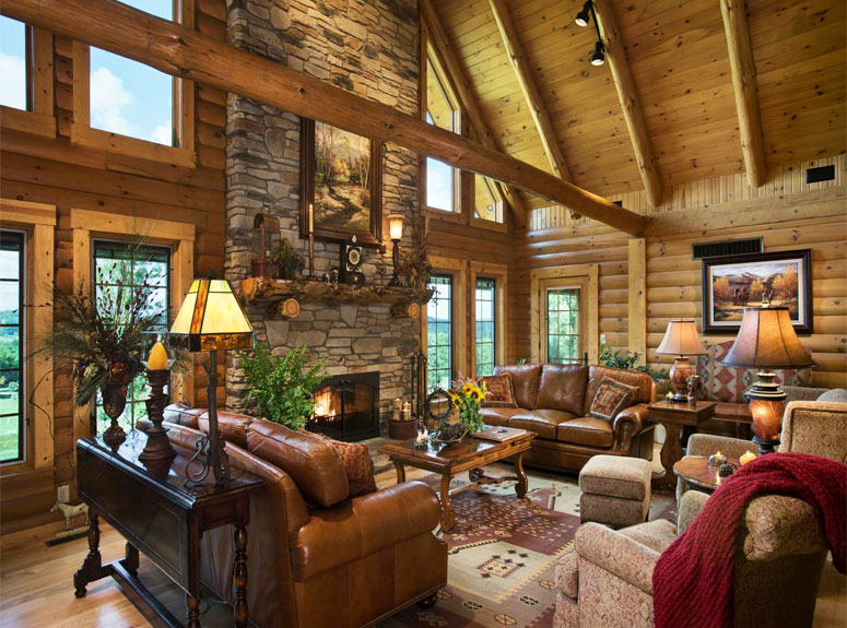 Log Homes And Log Cabin Gallery From Hochstetler Log Homes Stunning Log Homes Interior Designs Interior