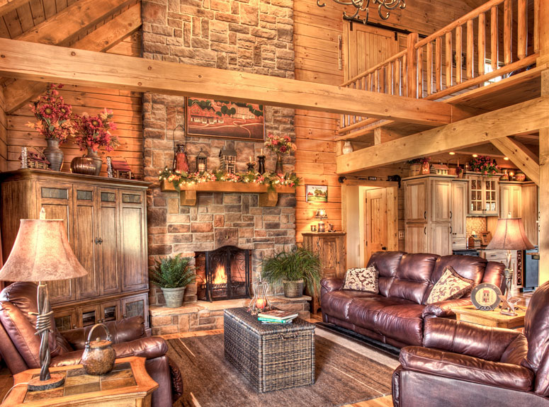 Log Homes and Log Cabin Gallery from Hochstetler Log Homes – Log Home Open Floor Plans