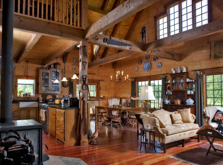 Log Homes and Log Cabin Gallery from Hochstetler Log Homes