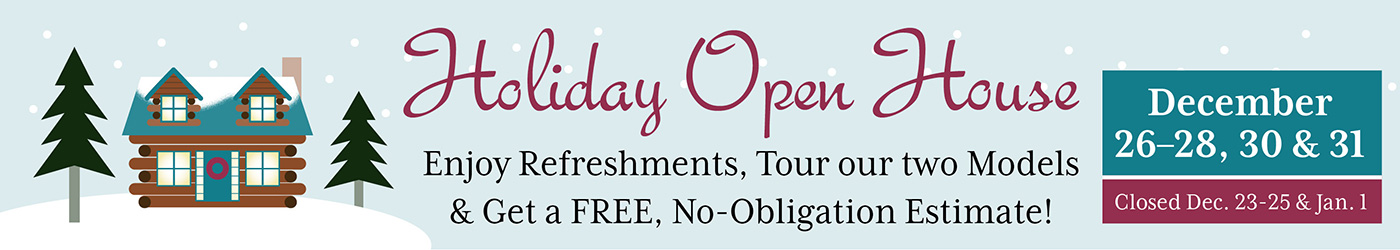 holiday open house at hochstetler log homes