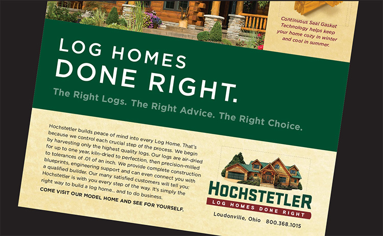 log homes done right by Hochstetler log homes
